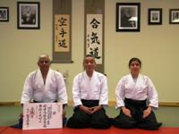 Dr. Aiki (Jaideep Sensei), Kato Shihan, Karen Sensei at November 2009 Seminar - Dr. Aiki was Awarded San-dan (3rd degree black belt) at the Seminar